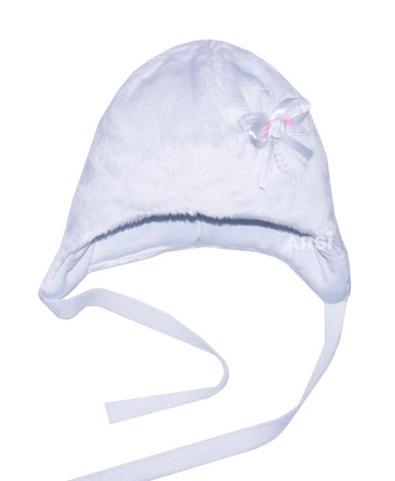 Шапочка для девочки KOLIBRI velboa by ARSI белая