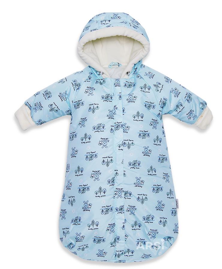 Комбинезоны для новорожденных мальчиков Зайка голубой ARSI