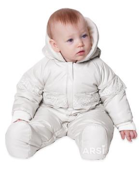 Демисезонные детские комбинезоны ARSI Мой ангел молочный фото 3