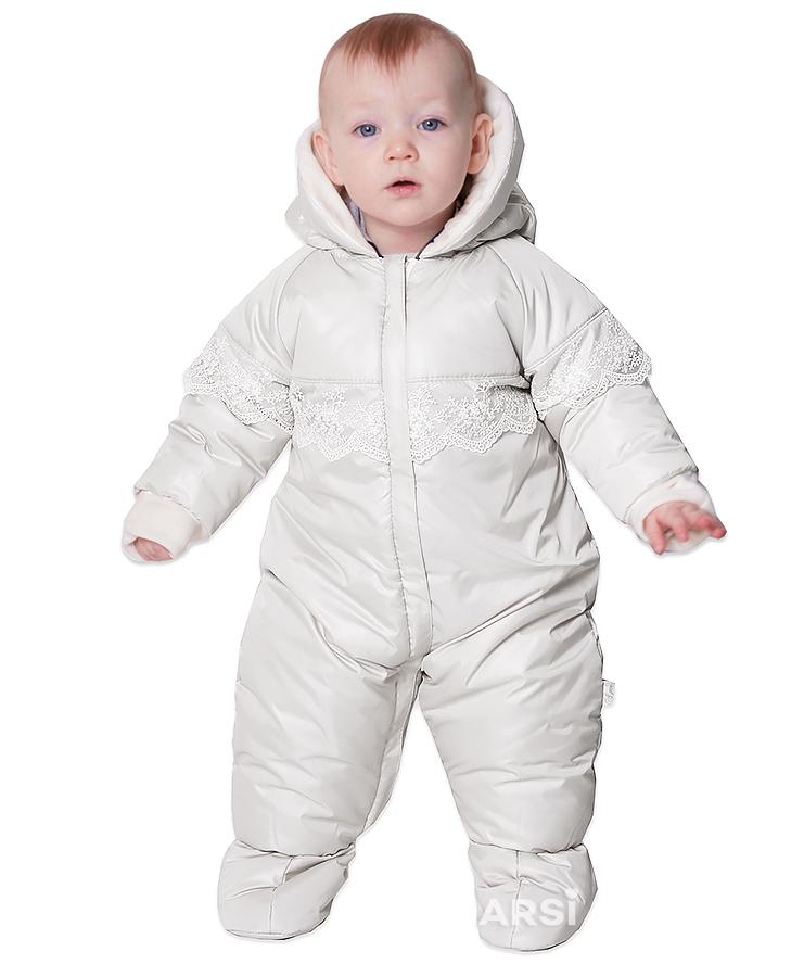 Демисезонные детские комбинезоны ARSI Мой ангел молочный фото 2