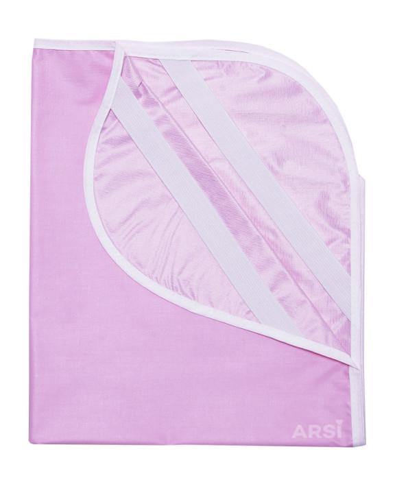 Лента атласная с метанином ARSI розовая