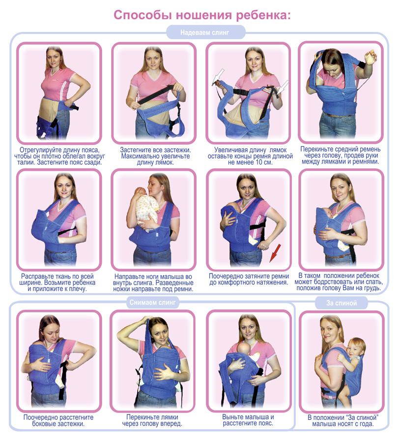 Инструкция по ношению слинга