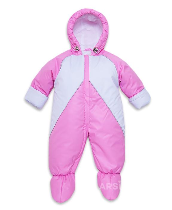 Купить детскую верхнюю одежду недорого Акция ARSI Комбинезон Радуга розовый