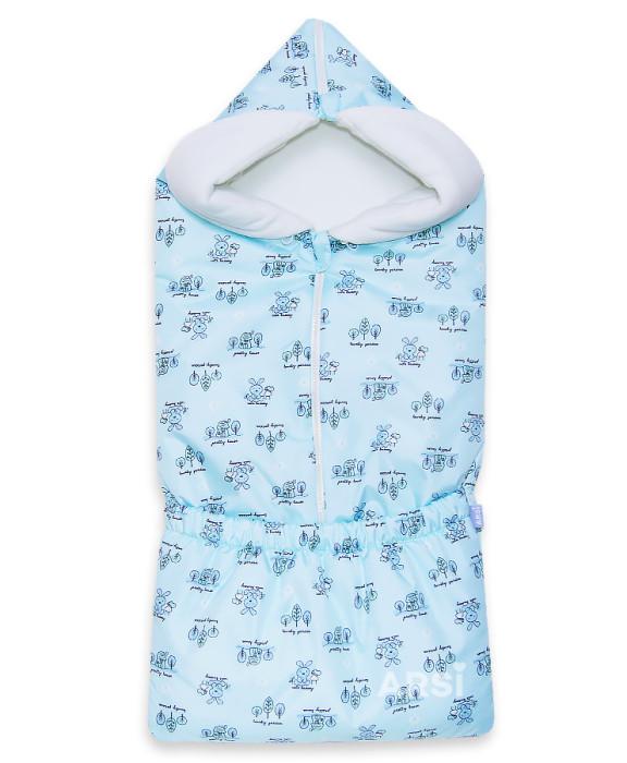 Купить конверт для новорожденного Зайка мята от АРСИ