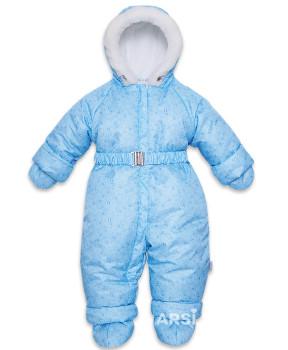 Детские зимние комбинезоны для мальчиков фото Лама голубой