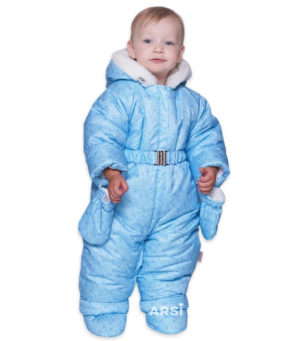 Детские зимние комбинезоны для мальчиков ARSI Лама голубой фото 1 АРСИ