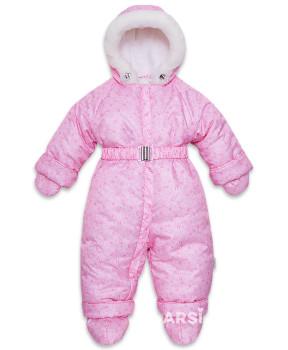 Детские зимние комбинезоны для девочек фото Лама розовый