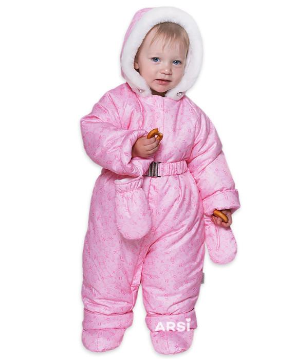 Детские зимние комбинезоны для девочек АРСИ Лама розовый фото 1 АРСИ