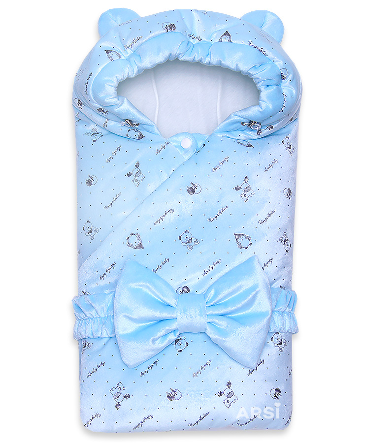 Одеяло-на-выписку-Мишка-ARSI-голубой-АРСИ-фото-1
