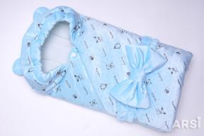 Одеяло-на-выписку-Мишка-ARSI-голубой-АРСИ-фото-2