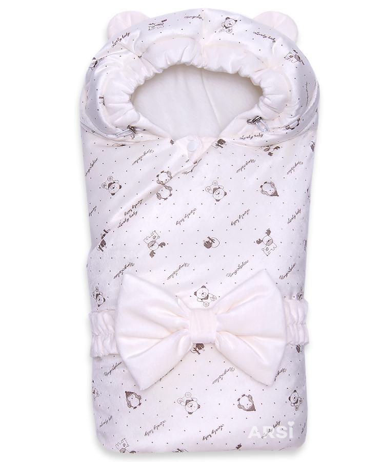 Одеяло-на-выписку-Мишка-ARSI-молочный-АРСИ-фото-1