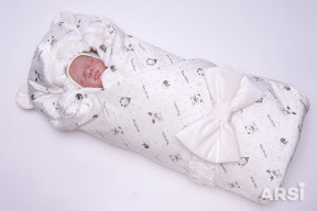 Одеяло-на-выписку-Мишка-ARSI-молочный-АРСИ-фото-2