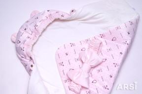 Одеяло-на-выписку-Мишка-ARSI-розовый-АРСИ-фото-2
