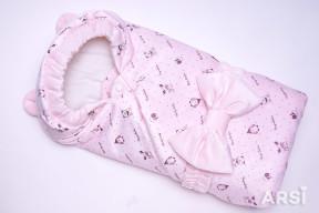 Одеяло-на-выписку-Мишка-ARSI-розовый-АРСИ-фото-3