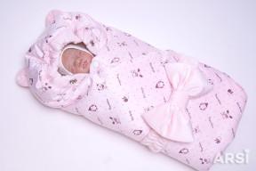 Одеяло-на-выписку-Мишка-ARSI-розовый-АРСИ-фото-4