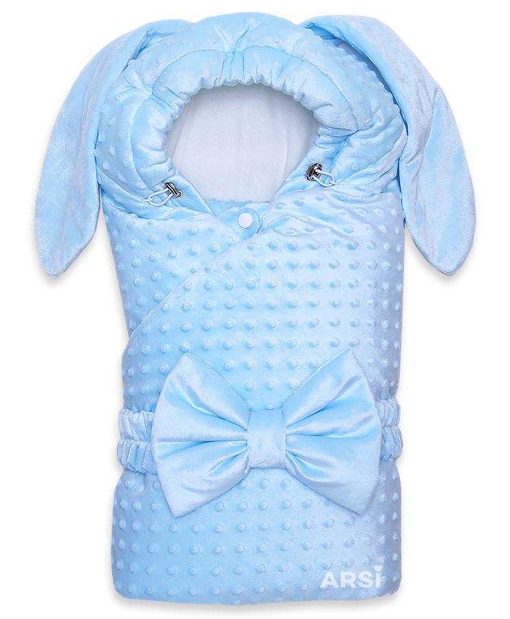 Одеяло-на-выписку-Зая-ARSI-голубой-АРСИ-фото-1