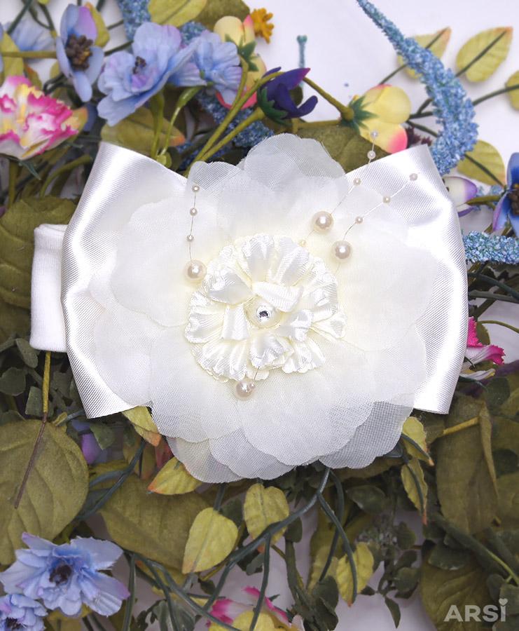 Повязка-Венеция-цветок-АРСИ-молочный-фото-1