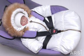 Зимний-комбинезон-мешок-для-новорожденного-молочного-цвета-фото-7