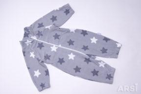 Комбинезон-флисовый-АРСИ-Флисик-серые-звезды-68-74-80-фото-3