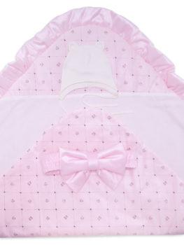Комплект-на-выписку-Малышка-розовый-ромбик-АРСИ-фото-4