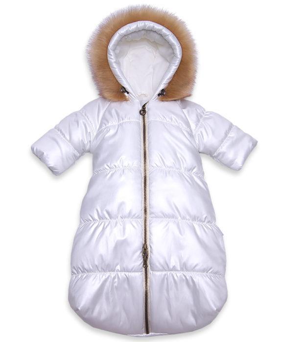 Зимний-комбинезон-мешок-для-новорожденного-молочного-цвета-фото-1