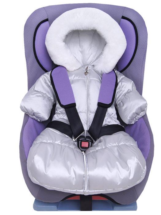 Комбинезон-мешок-для-новорожденного-Жемчужина-серебристый-фото-(0,)